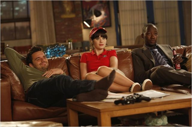 Photo Jake Johnson, Lamorne Morris, Zooey Deschanel
