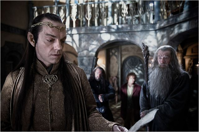 Le Hobbit : un voyage inattendu : photo Hugo Weaving, Ian McKellen