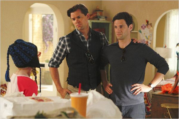 The New Normal : photo Andrew Rannells, Bebe Wood, Justin Bartha