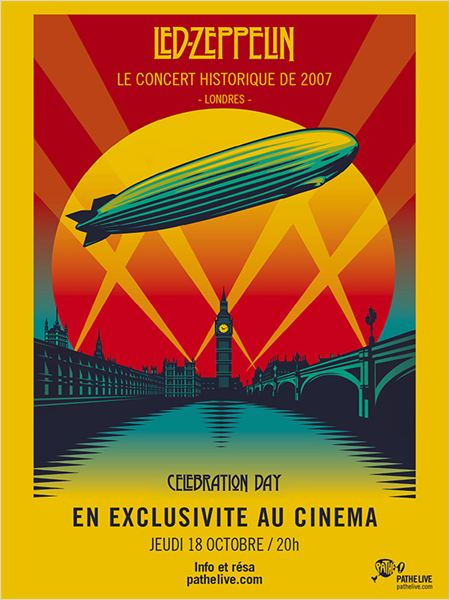 Concert : Led Zeppelin - Celebration Day : affiche