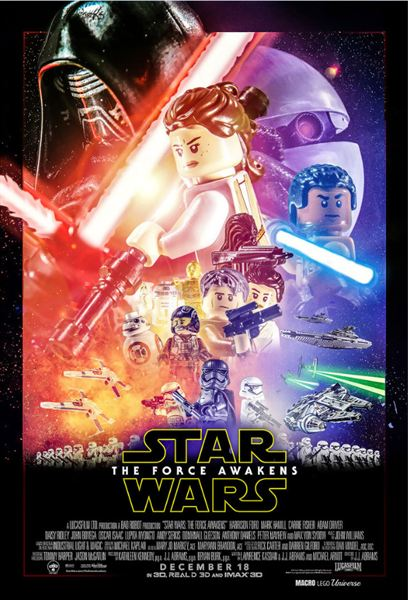 l 39 affiche version lego star wars les 6 meilleures parodies d 39 affiches de star wars le r veil. Black Bedroom Furniture Sets. Home Design Ideas