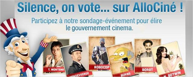 &quot;Silence, on... vote sur AlloCin&#233; !&quot; - Les &#233;lections cin&#233;ma/s&#233;ries (1er tour)
