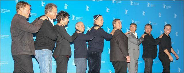 """Berlinale 2014: Les """"Monuments Men"""": George Clooney, Jean Dujardin et Matt Damon sur le tapis rouge."""
