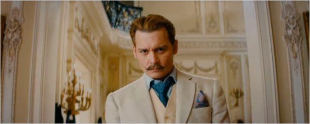 Bande-annonce : Johnny Depp en gentleman moustachu dans Mortdecai