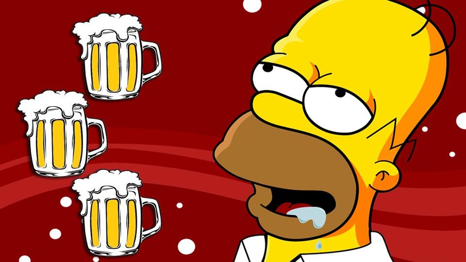 """Homer Simpson Et Sa Passion Dévorante Pour La Bière """"Duff"""