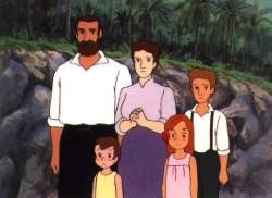Affiche de la série Kazoku Robinson Hy?ry?ki Fushigi na Shima no Fur?ne