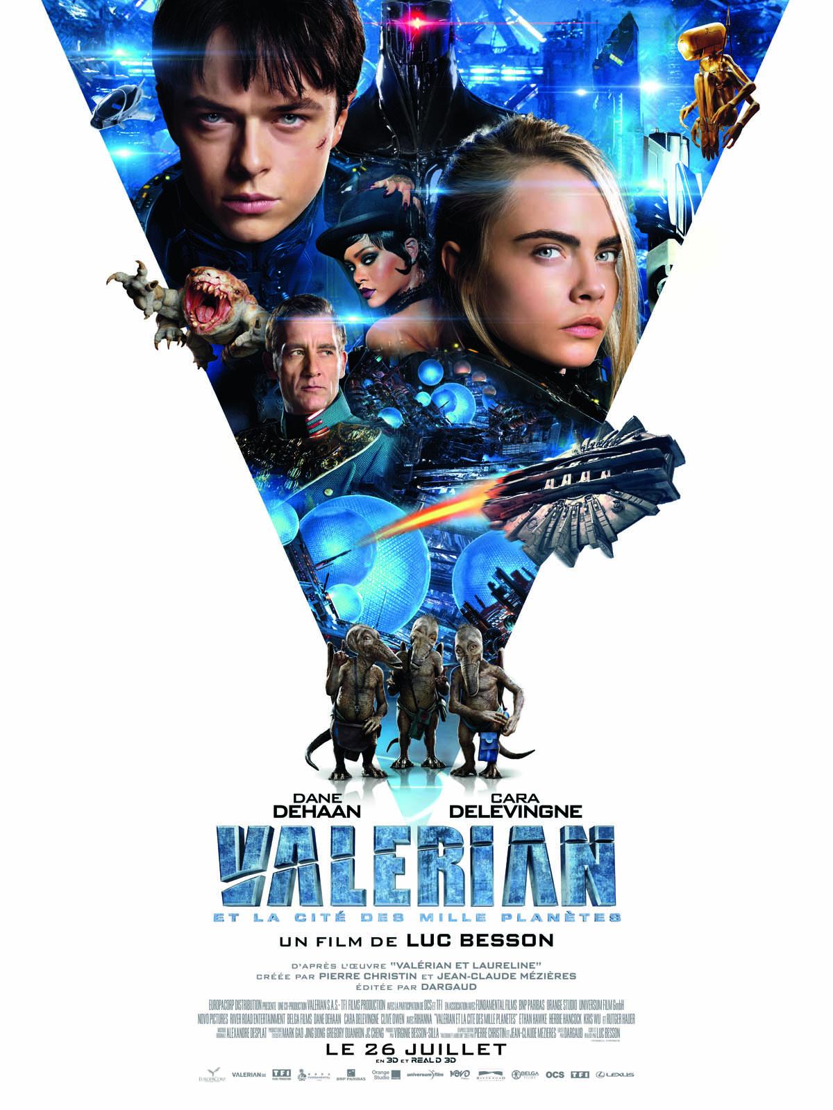 Valerian et la cité des milles planètes - affiche