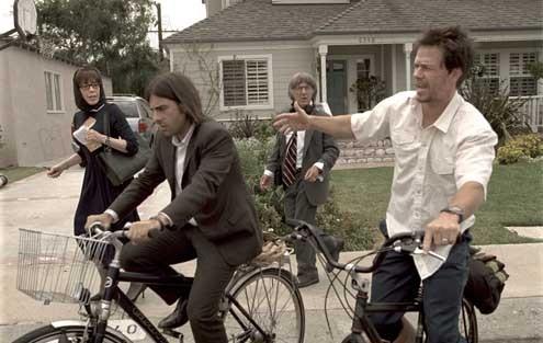 Mark Wahlberg, Jason Schwartzman, Dustin Hoffman et Lily Tomlin