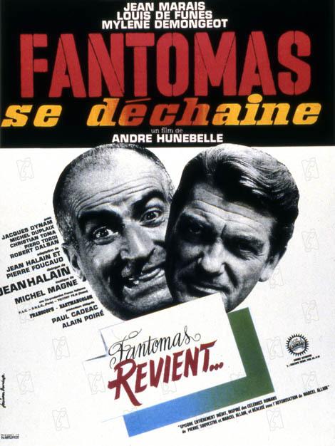 Fantômas se déchaîne : Affiche André Hunebelle