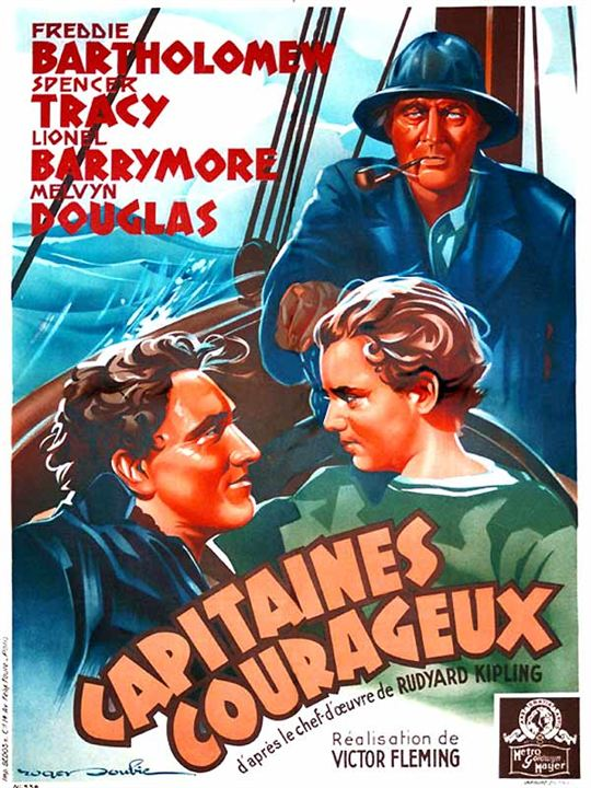 Capitaines courageux : Affiche Freddie Bartholomew, Lionel Barrymore, Victor Fleming