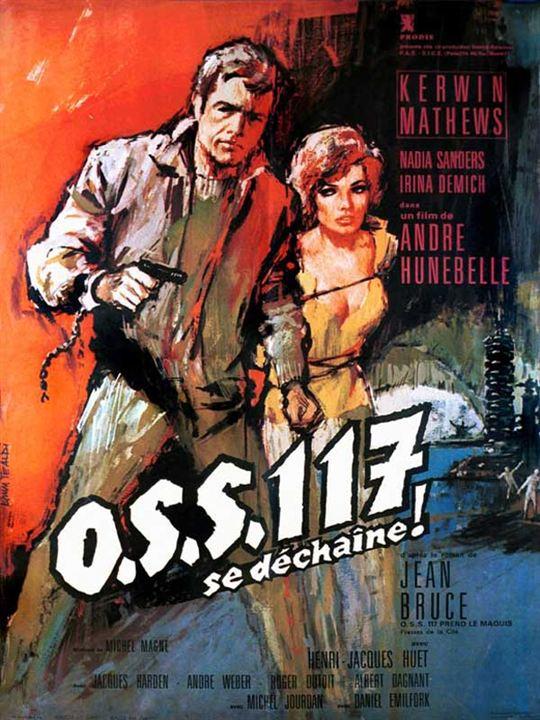 OSS 117 se déchaîne : affiche André Hunebelle