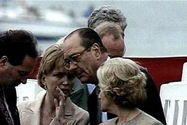 Dans la peau de Jacques Chirac : Photo Bernadette Chirac, Jacques Chirac, Karl Zéro, Michel Royer