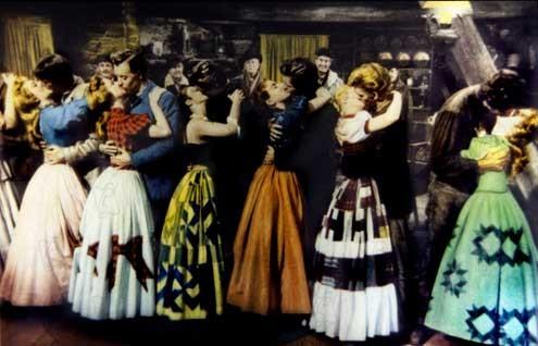 Les Sept femmes de Barberousse : Photo Howard Keel, Jane Powell, Russ Tamblyn, Stanley Donen