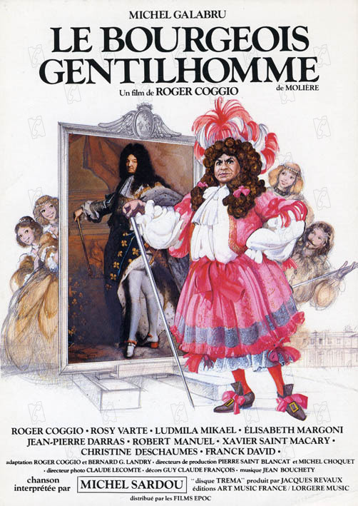 Le Bourgeois gentilhomme : Affiche Roger Coggio