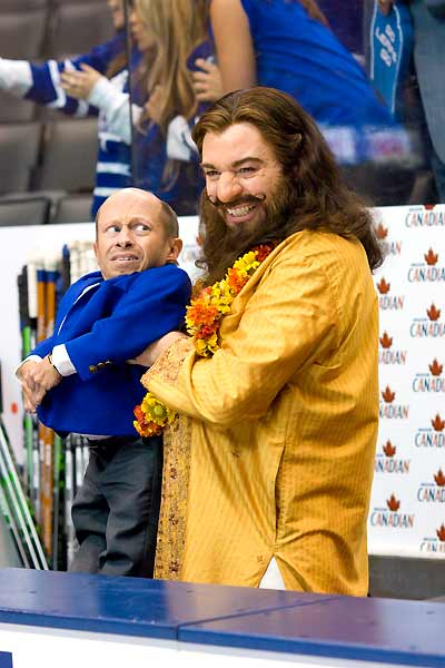Mike Myers et Verne Troyer