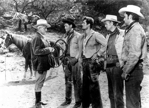 La Lance brisée : Photo Earl Holliman, Edward Dmytryk, Hugh O'Brian, Richard Widmark, Robert Wagner