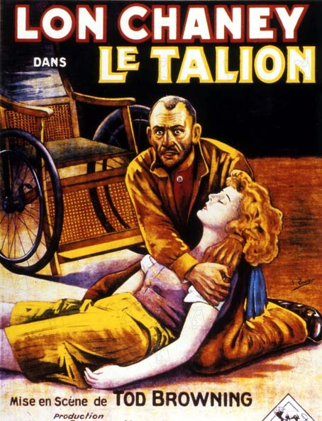 Le Talion : Affiche Lon Chaney, Tod Browning
