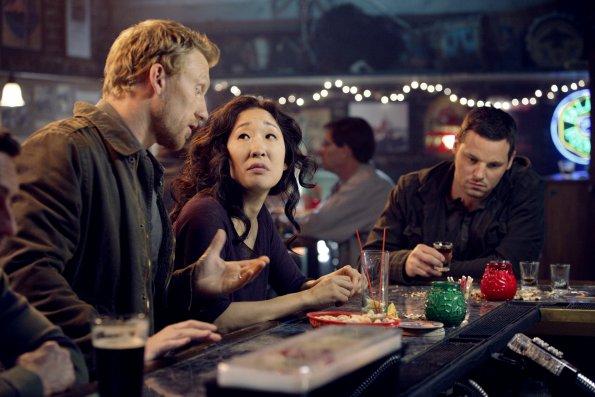 Photo Justin Chambers (I), Kevin McKidd, Sandra Oh