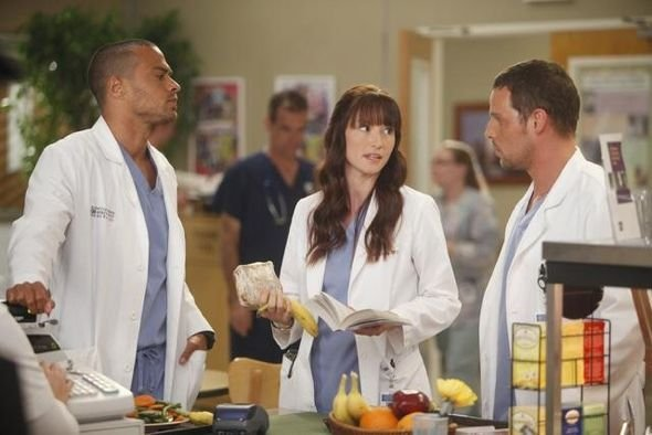 Photo Chyler Leigh, Jesse Williams, Justin Chambers (I)