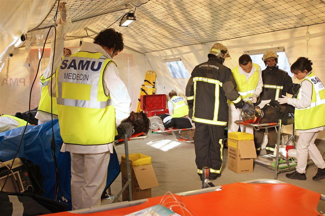 Équipe médicale d'urgence : Photo Fanny Gilles, Frédéric Quiring, José de Hita, Lionel Sautet, Loic Freynet