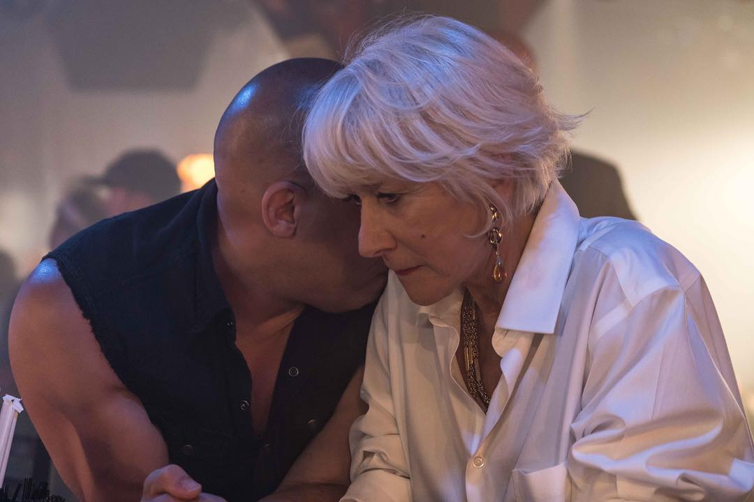 Mais que raconte Vin Diesel à Helen Mirren ?