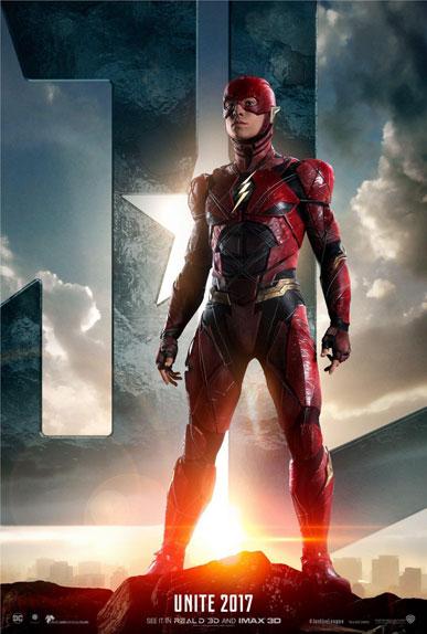 """Justice League"" avec Ben Affleck, Gal Gadot et Ezra Miller"