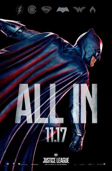 Justice League de Zack Snyder et Joss Whedon avec Ben Affleck, Gal Gadot, Jason Momoa...