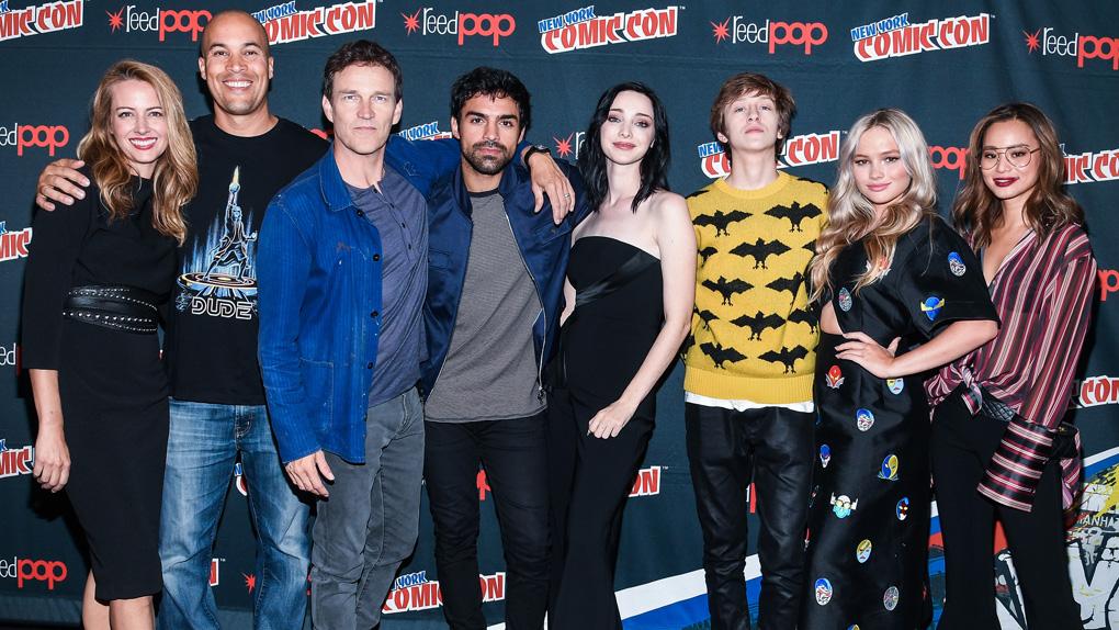 Le casting de The Gifted le 8 octobre 2017, lors du Comic Con New York