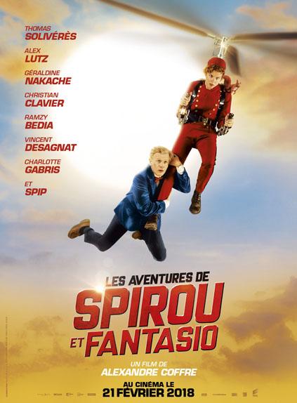 Les Aventures de Spirou et Fantasio d'Alexandre Coffre avec Thomas Solivérès, Alex Lutz, Ramzy Bedia...