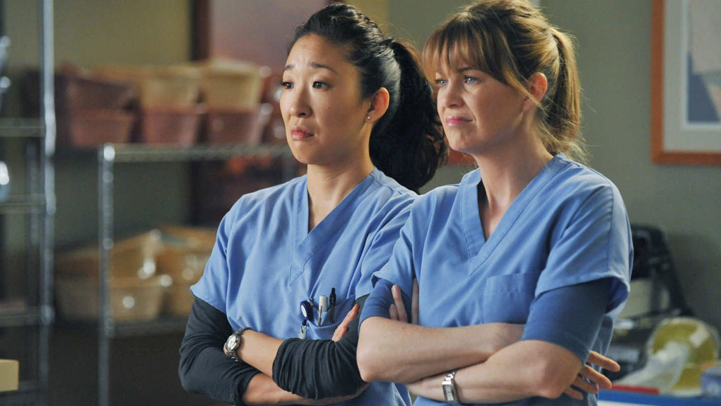 "Christina et Meredith dans ""Grey's Anatomy"""