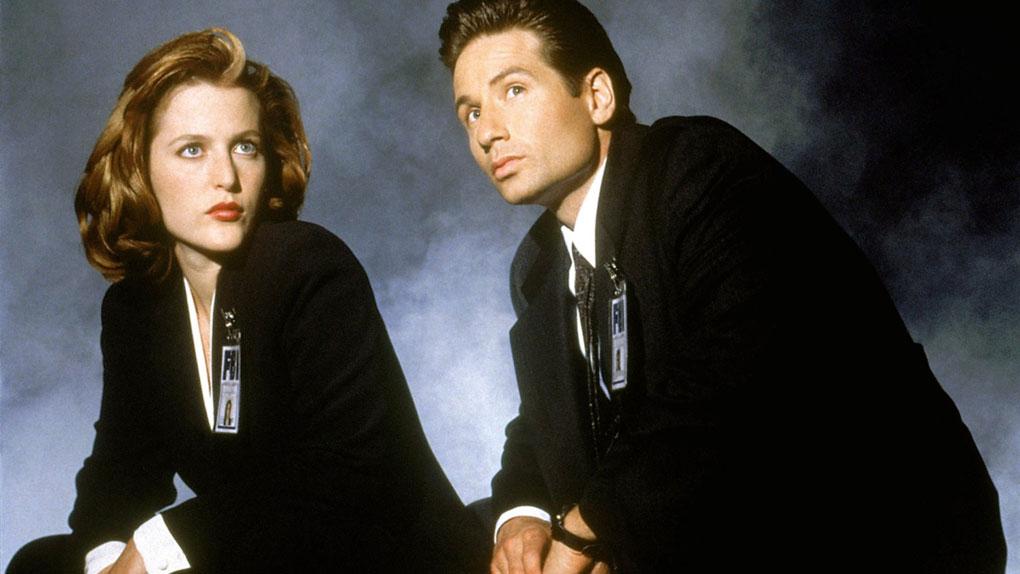"Scully et Mulder dans ""X-Files"""