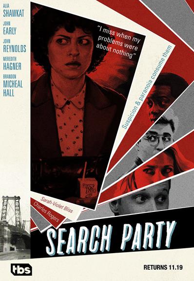 Search Party : la saison 2 s'affiche et rend hommage à Alfred Hitchcock