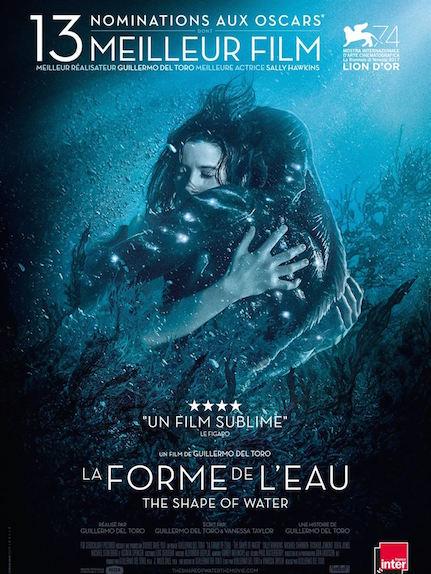 La Forme de l'eau : 4 Oscars, meilleur film, réalisateur, meilleure musique et meilleurs décors