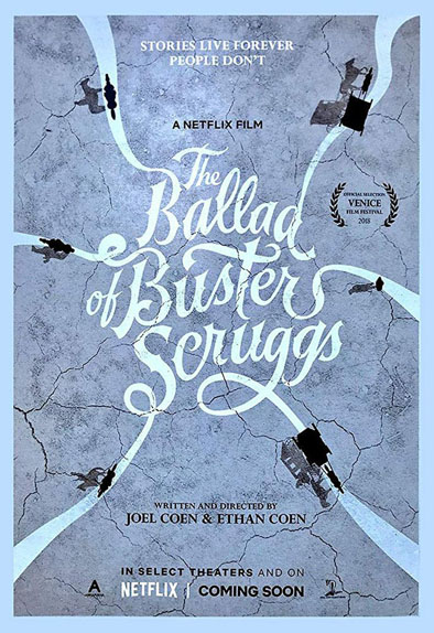 The Ballad of Buster Scruggs avec Tim Blake Nelson, James Franco, Liam Neeson...