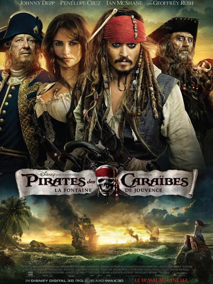 N°30 - Pirates des Caraïbes la Fontaine de Jouvence : 1,045 milliard de dollars de recettes