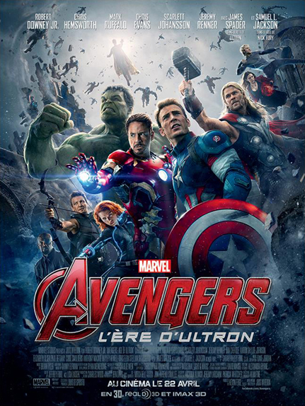 N°8 - Avengers l'ère d'Ultron : 1,405 milliard de dollars de recettes