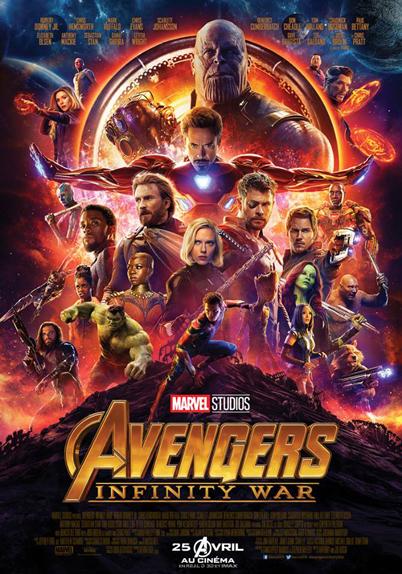 N°4 - Avengers Infinity War : 2,048 milliards de dollars de recettes
