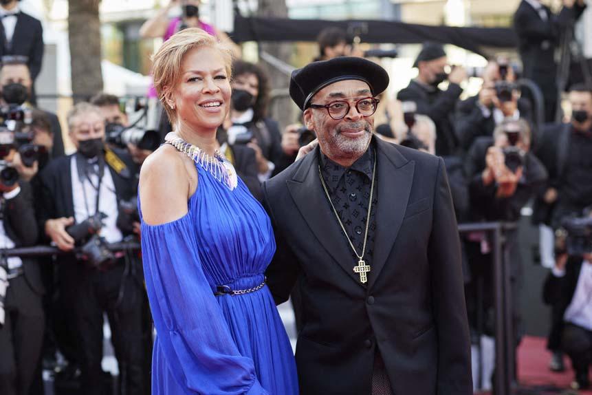 Le président du jury, Spike Lee, et sa femme