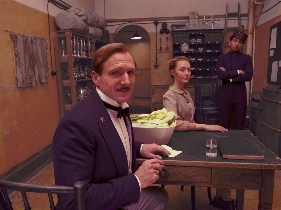 The Grand Budapest Hotel: Tony Revolori, Ralph Fiennes, Saoirse Ronan