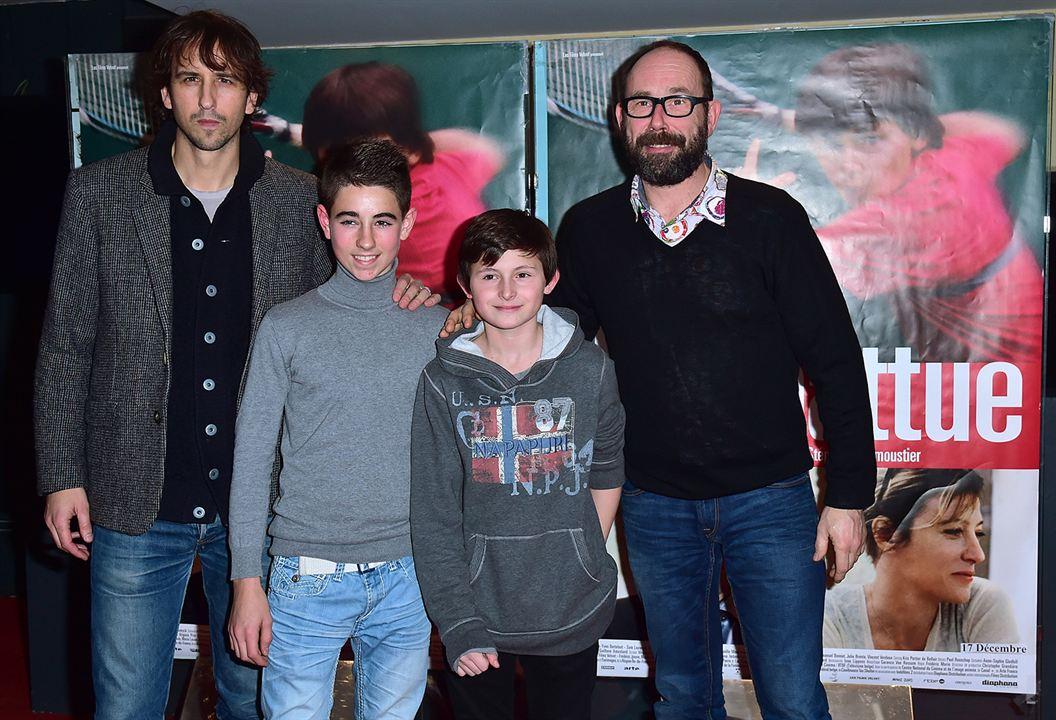 Terre battue : Photo promotionnelle Charles Mérienne, Loris Colosimo, Olivier Gourmet, Stéphane Demoustier