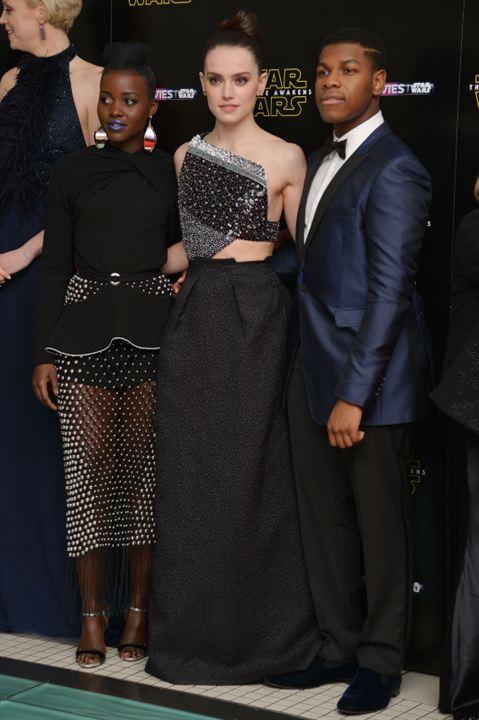 Star Wars - Le Réveil de la Force : Photo promotionnelle Daisy Ridley, John Boyega, Lupita Nyong'o