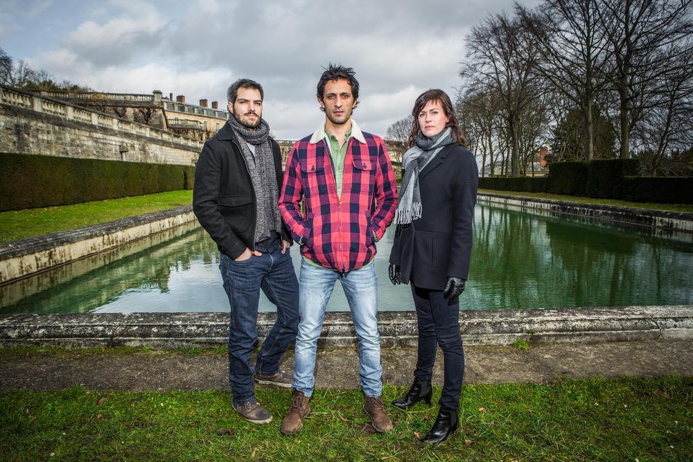 Photo promotionnelle Anne Caillon, Clément Manuel, David Kammenos