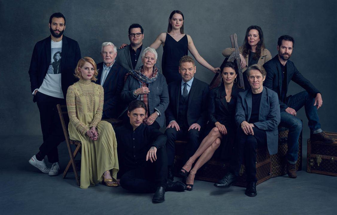 Le Crime de l'Orient-Express : Photo promotionnelle Daisy Ridley, Derek Jacobi, Josh Gad, Judi Dench, Kenneth Branagh