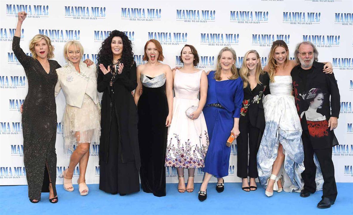 Mamma Mia! Here We Go Again : Photo promotionnelle Alexa Davies, Amanda Seyfried, Benny Andersson, Cher, Christine Baranski