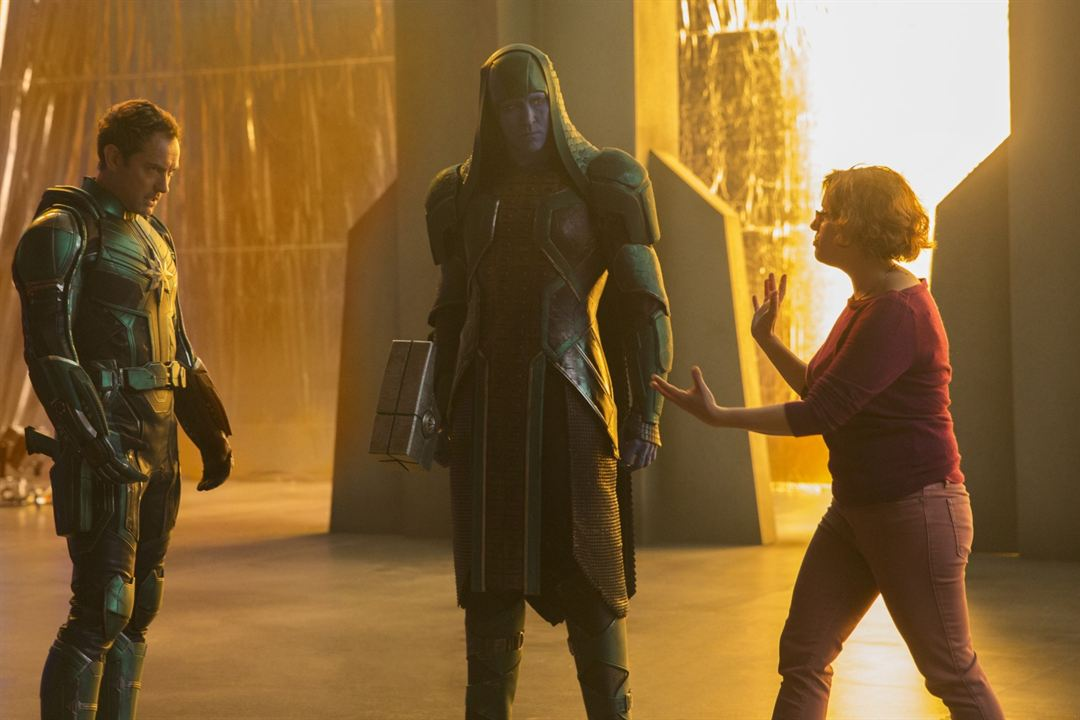 Captain Marvel : Photo promotionnelle Anna Boden, Jude Law, Lee Pace