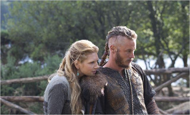 Vikings : photo Katheryn Winnick, Travis Fimmel