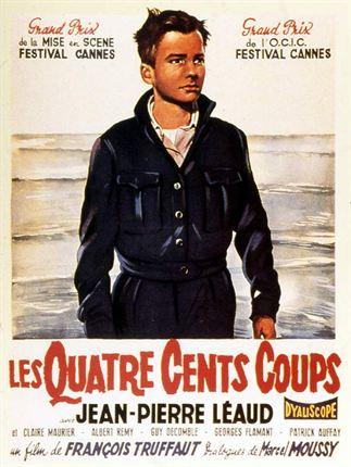 Les quatre cents coups : Affiche François Truffaut, Jean-Pierre Léaud